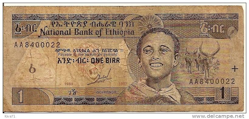 """1 Birr  """"ETHIOPIE""""     Usagé - Ethiopie"""