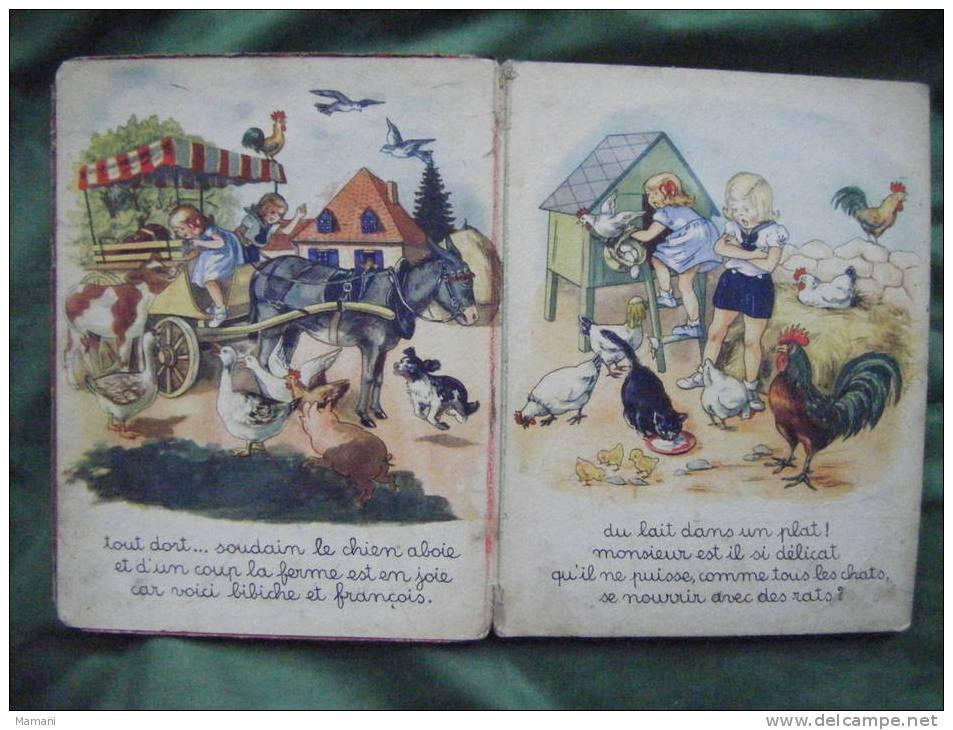 Bibiche Et Francois A La Ferme Par Blanchard-12 Pages Cartonnees-- - Livres Pour Enfants