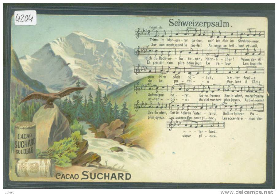 CHOCOLAT SUCHARD - SCHWEIZERPSALM - TB - Advertising