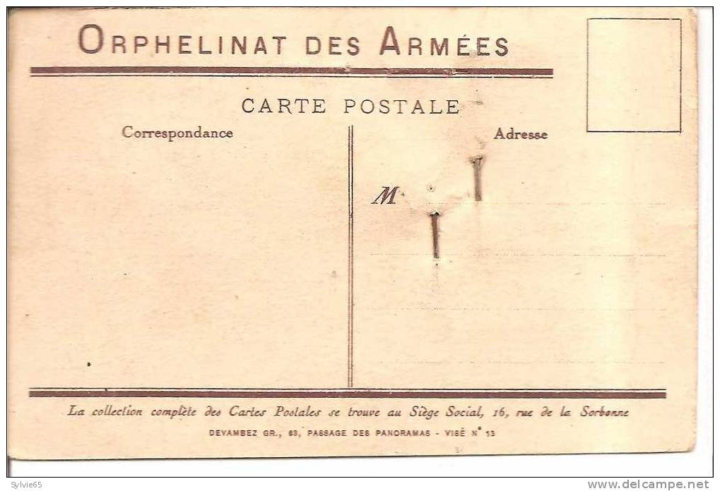 "JOURNEE DE L'ORPHELINAT DES ARMEES-cpa Illustrée""les Fugitifs"" - Militaria"