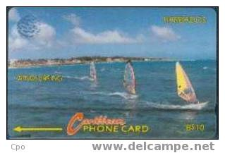 # BARBADOS 3 Windsurfing $10 C&w   Tres Bon Etat - Barbades