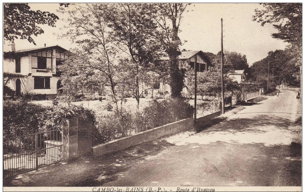 PYRENEES -ATLANTIQUES . CAMBO. LA ROUTE D'ITXASSOU.ANIMEE - France
