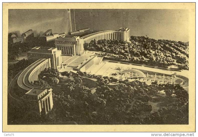 Architecture - Exposition Paris 1937 - Maquette Du Trocadéro - Monuments
