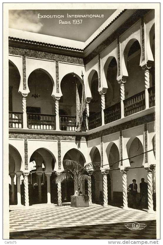 Architecture - Exposition Paris 1937 - Pavillon Algérie - Monuments