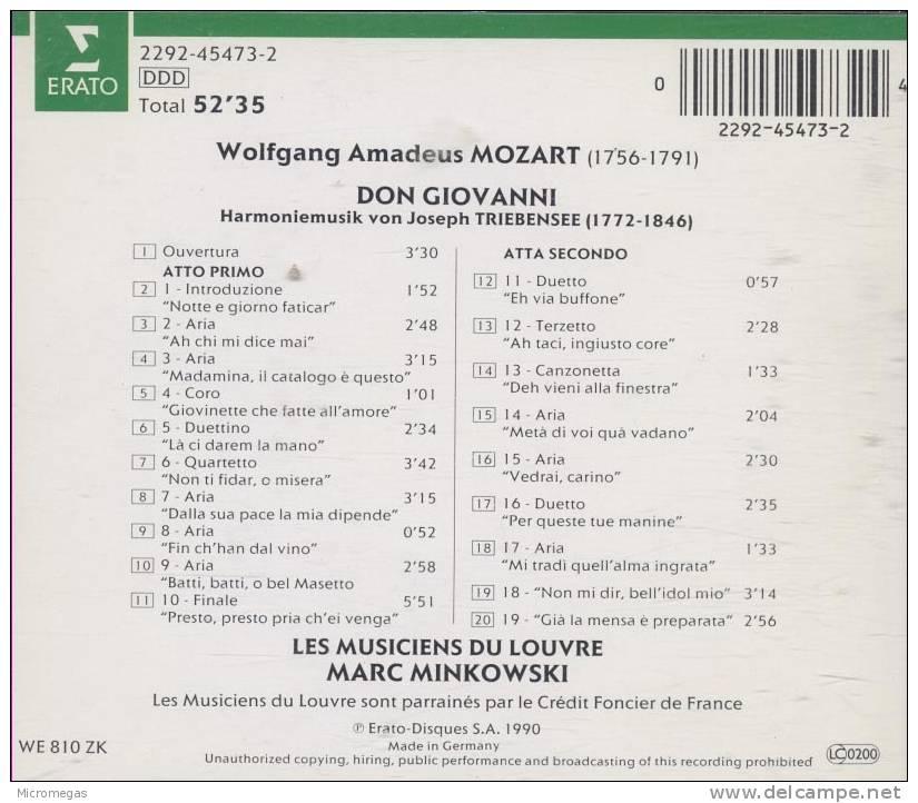 Mozart/Tribensee : Don Giovanni, Minkowski - Classique