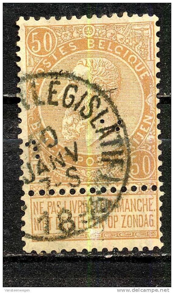Belgique COB 62 ° Bruxelles Législatif - 1893-1900 Barba Corta