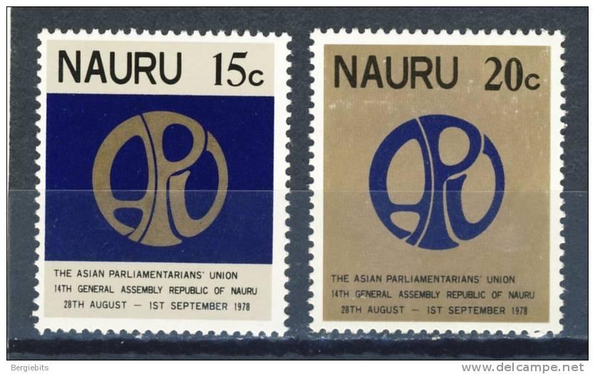1978 Nauru Asian Parliament MNH Set Of 2 - Nauru