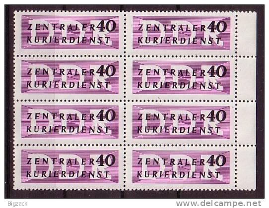 DDR Dienstmarke B Minr.8 Postfrisch 8er Block SR - DDR