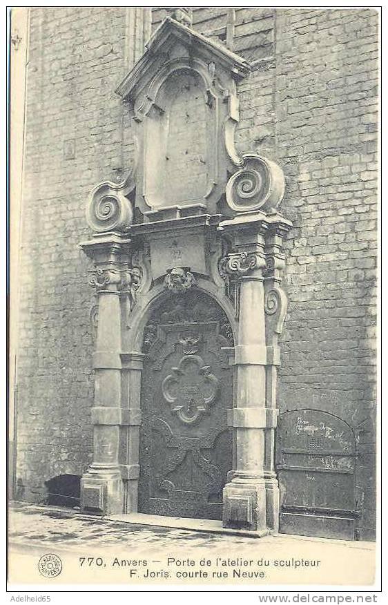 Antwerpen, Anvers: Porte De L´Atelier Du Sculpteur F. Joris, Courte Rue Neuve, Hermans - Antwerpen