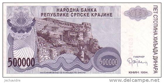 CROATIE   500 000 Dinara  Daté De 1994   Pick R32     ***** BILLET  NEUF ***** - Croatie