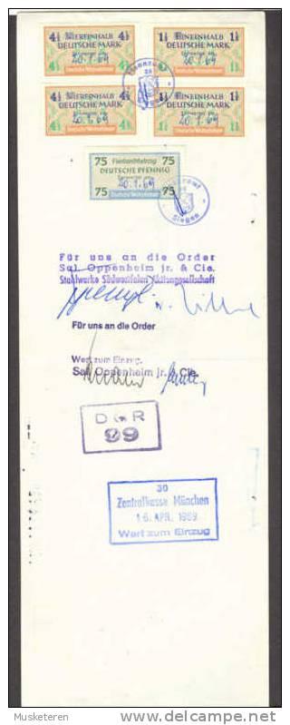 Germany Deutschland Wechsel 1969 Stahlwerke SüdwestfalenZentralkasse München Deutsche Wechselsteuer Marke - Bills Of Exchange