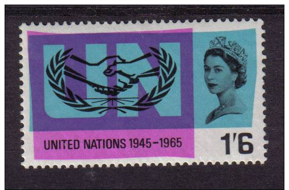 GB 1965 SG682 1s 6d UNMOUNTED MINT NEVER HINGED QEII  MNH 1/6 UN UNITED NATIONS - 1952-.... (Elizabeth II)