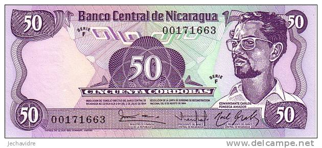 NICARAGUA   50 Cordobas  Non Daté (1985)   Pick 140    ***** BILLET  NEUF ***** - Nicaragua