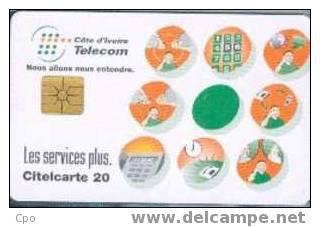 # IVORY_COAST 14 Les Services Plus 20 Gem   Tres Bon Etat - Ivory Coast