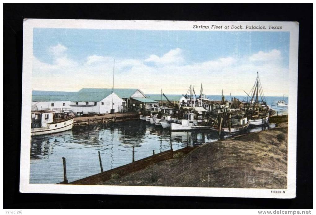 Palacios - Texas - Shrimp Fleet At Dock -  Fishing Boats - Not Used - Etats-Unis