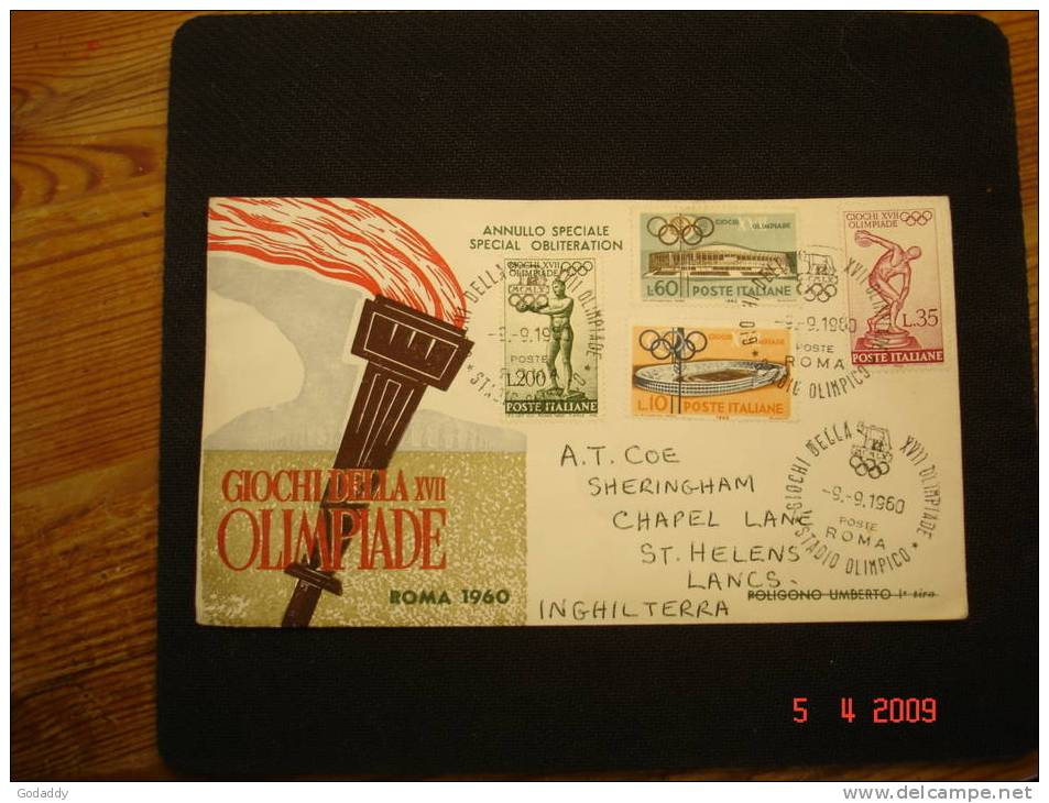 Italy 1960 Olympic Games  First Day Covers Full Set On 2 Official Covers - 6. 1946-.. Republic