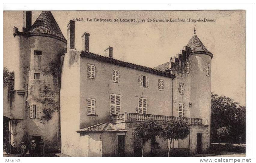 63 - LONGAT - Le Chateau Près De Saint Germain Lembron - Francia
