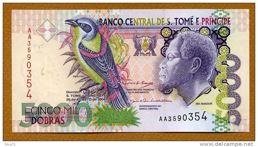 "5000 Dobras   ""Sao Tomé Et Principe""  2004  UNC     Ble 70 - Sao Tomé Et Principe"