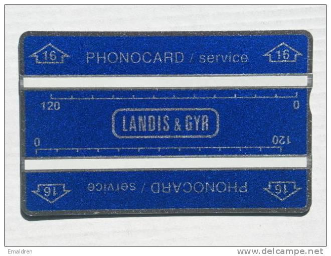"Service Card. ""16"" In Arrow. MINT. 512K. 3/4mm. - Thaïlande"