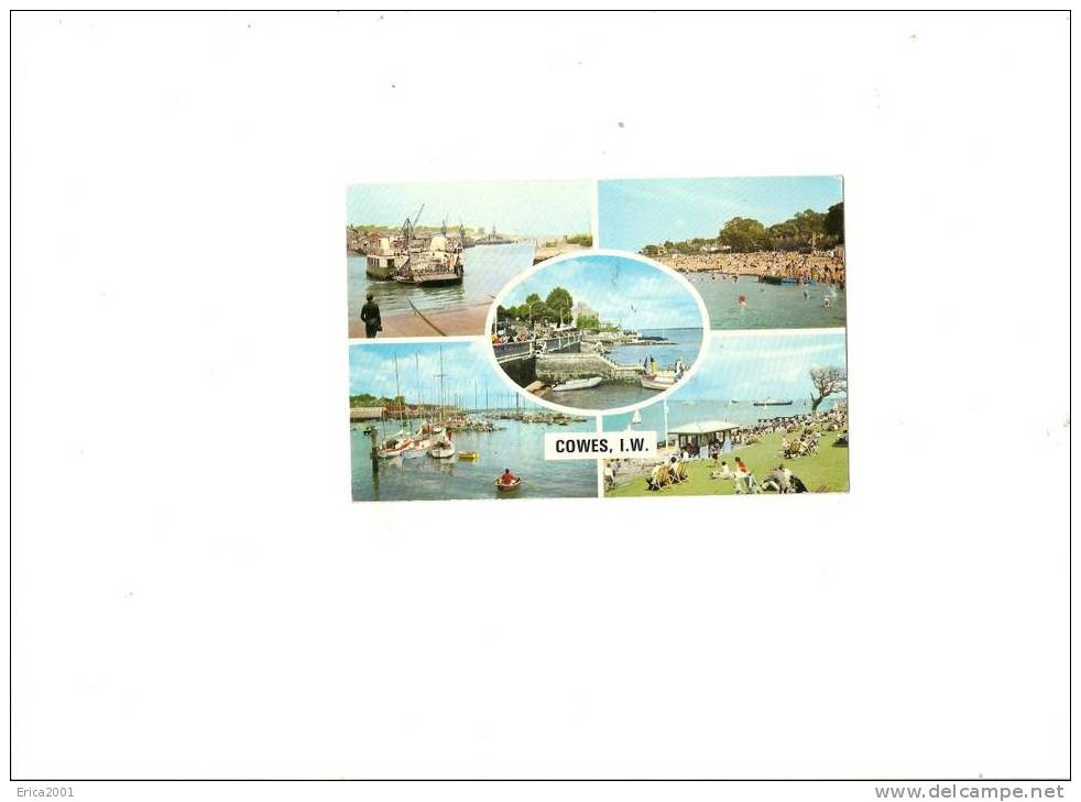 Royaume Uni. Angleterre ; Cowes   . Multiviews Card - Cowes