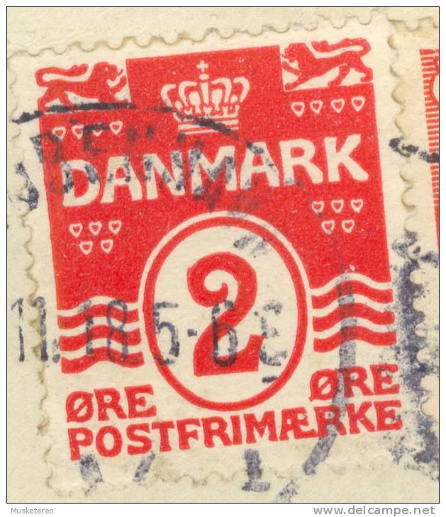 Denmark SAVA 78/38 Variety White Spot Over Right Wave King Christian X Kjøbenhavn V. Cancel Cover 1918 To Uppsala Sweden - Errors, Freaks & Oddities (EFO)