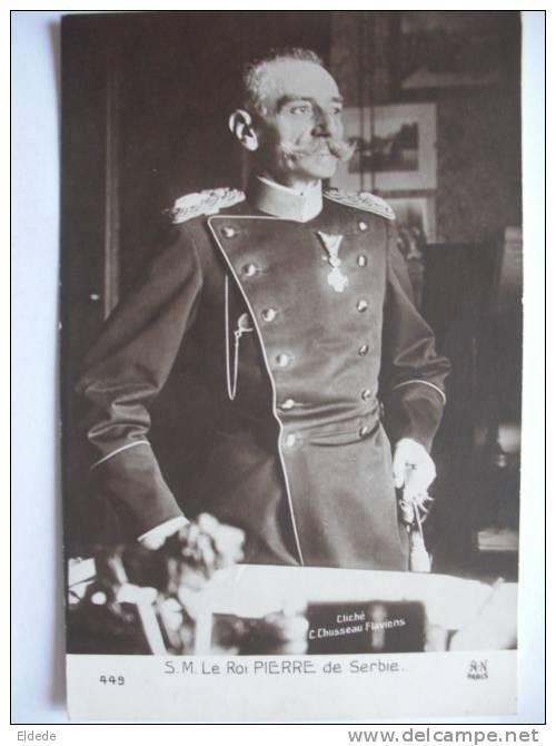 Guerre 1914 WWI S.M. Le Roi Pierre De Serbie - Serbie