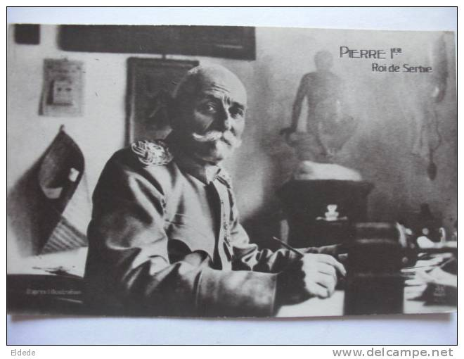 Guerre 1914 WWI S.M. Pierre 1er De Serbie - Serbie