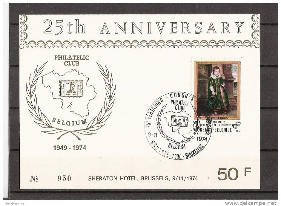 Belgique:  1724 Sur Carte Souvenir  Philatelic Club De Belgique - FDC