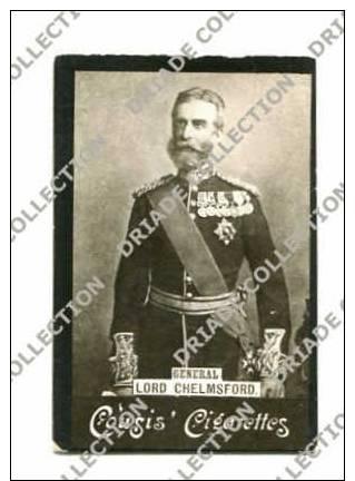 FIGURINA CROMO PUBBLICITA SIGARETTE COUSIS GENERALE LORD CHELMSFORD MILITARE  BRITISH GENERAL - Cigarette Cards