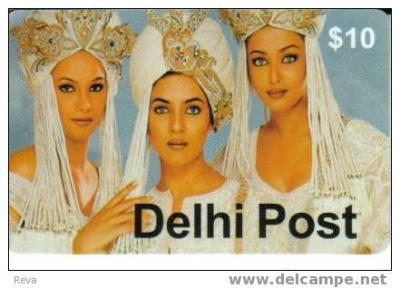 AUSTRALIA $10  DELHI POST INDIA  3  BEAUTIFUL  INDIA  WOMEN  WOMAN  SPECIAL PRICE !!! READ DESCRIPTION !! - Australia