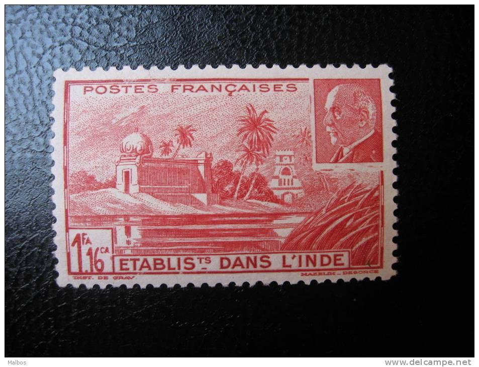 INDE - Etabl Fr - 1941  (*) YT N°126 - Sans Gomme - Whitout Glue - Unused Stamps