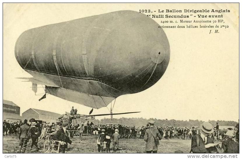 Aérostation - Ballon Dirigeable Anglais Nulli Secundus - Dirigibili