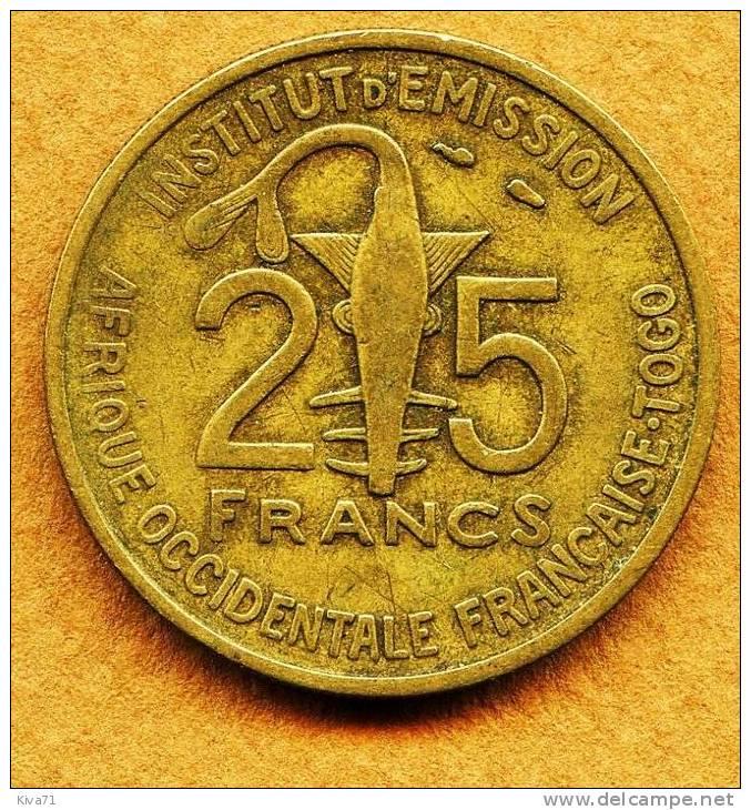 "25 Francs  ""TOGO"" 1957  TTB - Togo"