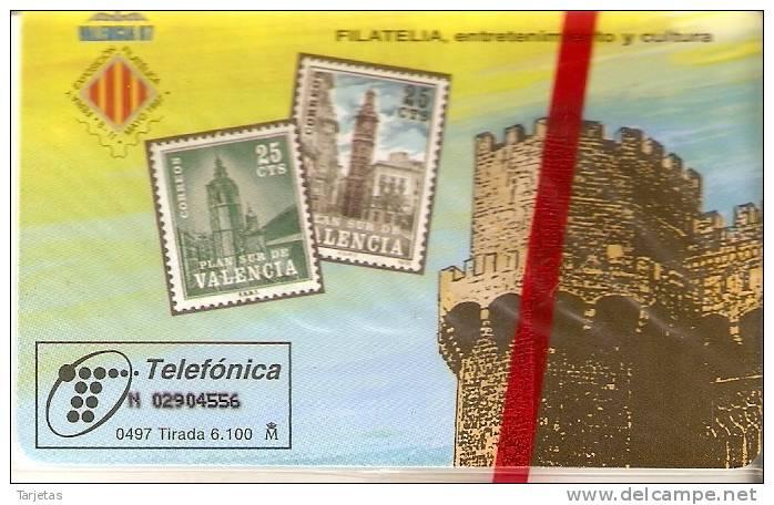 TARJETA DE ESPAÑA DE SELLOS DE TIRADA 6100  (STAMP) NUEVA-MINT - Sellos & Monedas