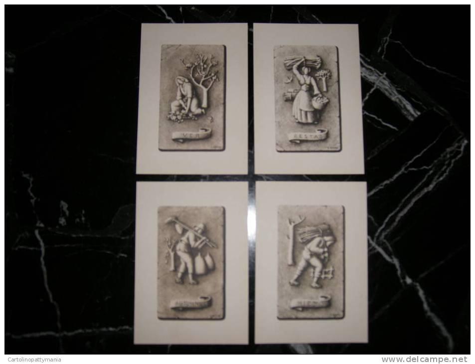 Lotto Di 4 Cartoline Delle 4 Stagioni - Astronomia