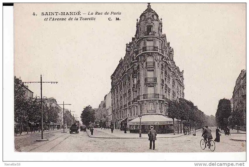 94 saint mande rue de paris et avenue tourelle caf brasserie de la tourelle. Black Bedroom Furniture Sets. Home Design Ideas