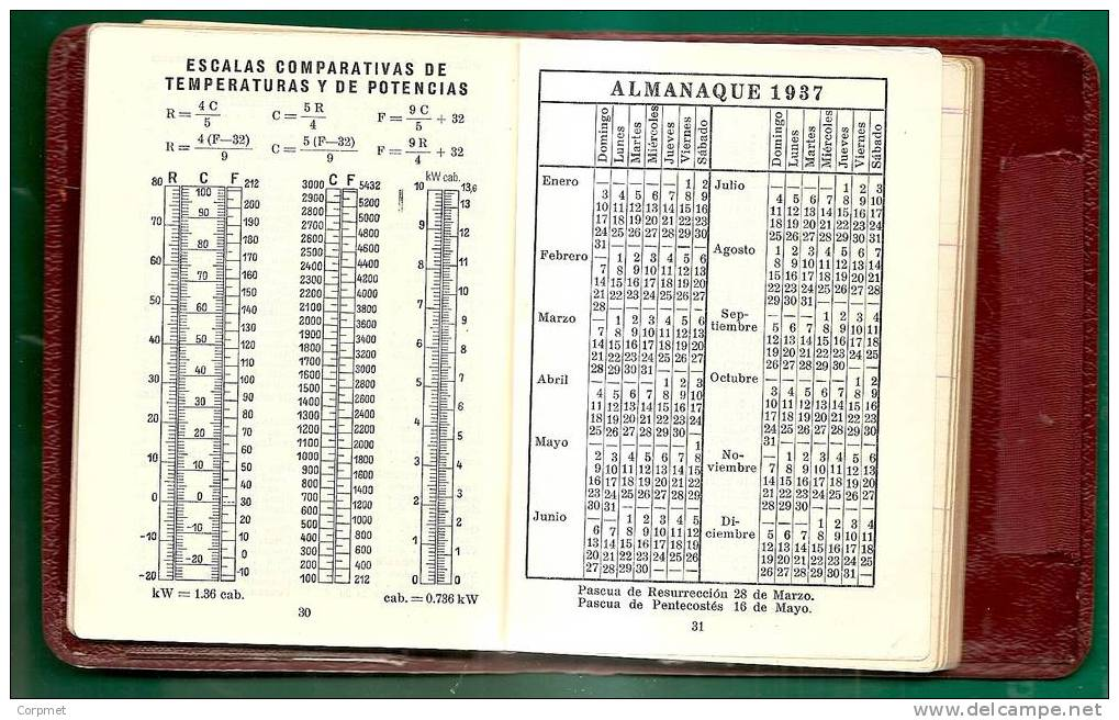 SIEMENS & HALSKE AG - KALENDER VON 1937 – TASCHE  9 X 11.5 Cm KALENDER UND TÄGLICHE TAGESORDNUNG - UNBENUTZT - Kalenders