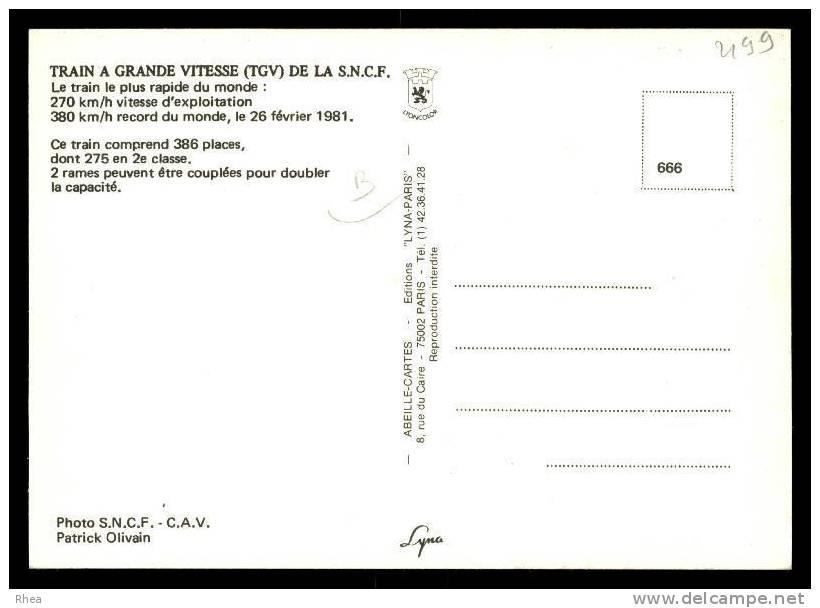 Train Tgv RH061623 - Masque De Fer, Le