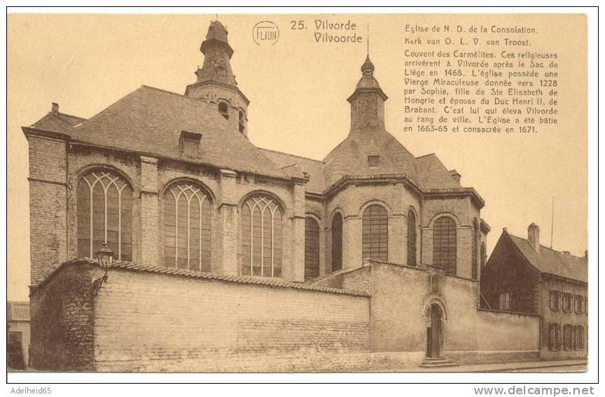 Vilvorde Vilvoorde Eglise De ND De La Consolation, Kerk Van OLV Van Troost Ed. Flion BXL - Vilvoorde
