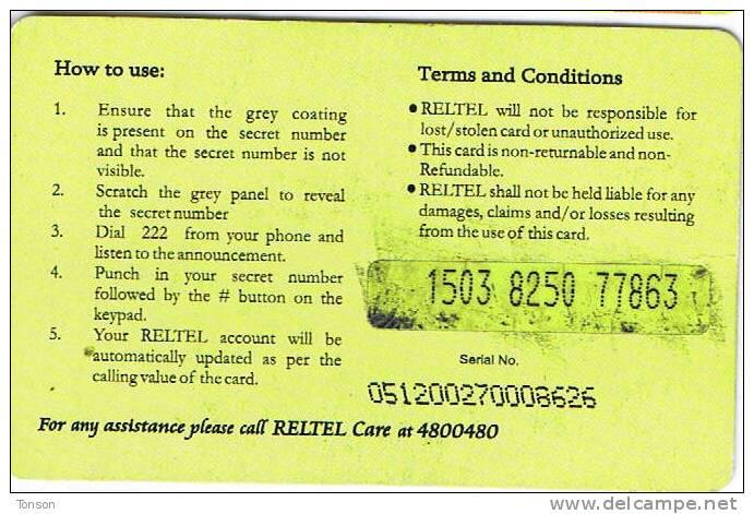 Nigeria, N 500, RelTel, Your Reliablelink, Lagos, Globe, 2 Scans. - Nigeria