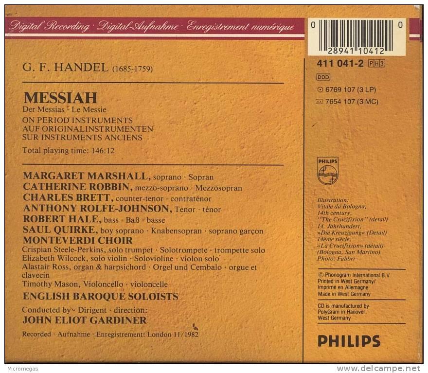 Haendel : Messiah, Gardiner - Classique