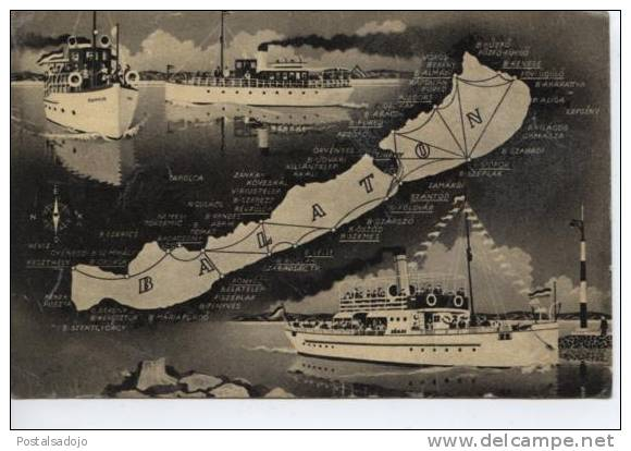 (HON8) RAIZ . LAC BALATON . BATEAUX A VAPEUR . SHIP - Hongarije