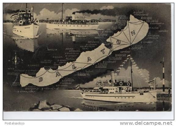 (HON8) RAIZ . LAC BALATON . BATEAUX A VAPEUR . SHIP - Ungheria