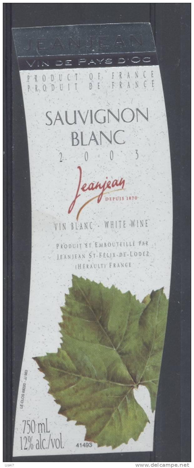 THEME PLANTES étiquette De Vin PAYS D´OC SAUVIGNON BLANC / FEUILLES 1 - Leaves
