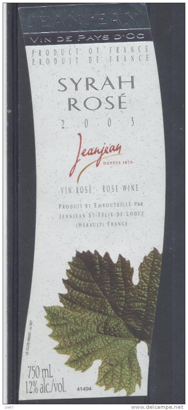 THEME PLANTES étiquette De Vin PAYS D´OC SYRAH ROSÉ / FEUILLES 1 - Leaves