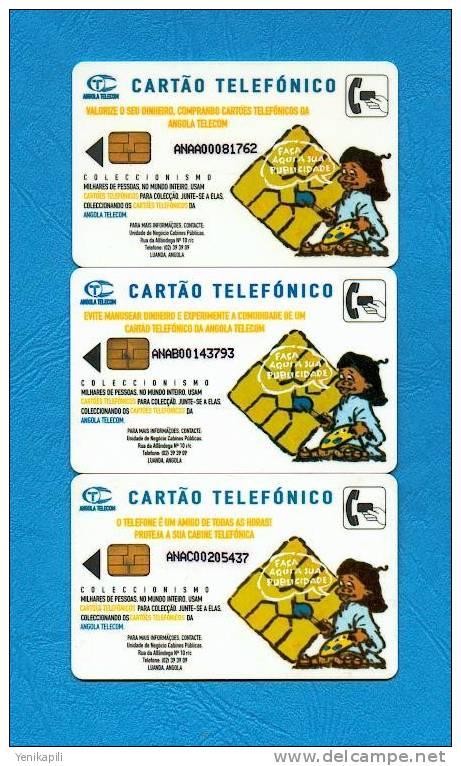 ( 2368 )  -  Carte Téléphonique  ANGOLAISE  - *** EC *** ------  RARE  ------ - Angola