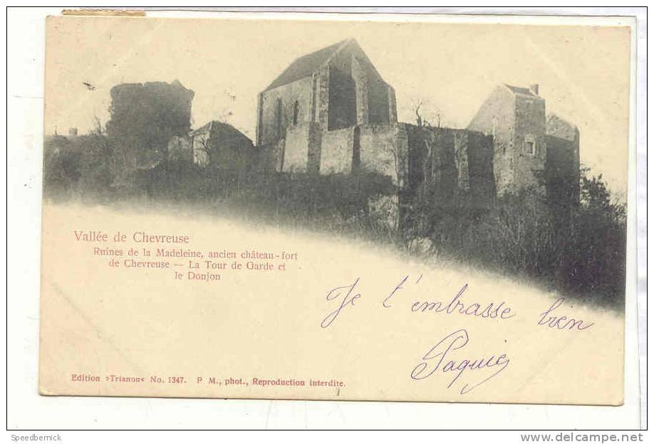 14563 Vallée Chevreuse Ruines Madeleine Tour Garde Donjon. éd Trianon N° 1347 P.M. - France