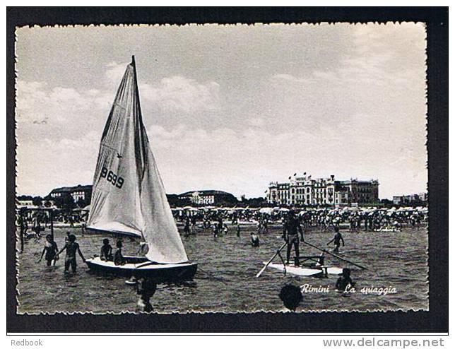 Early Postcard La Spiaggia - Rimini Italy - Ref 359 - Rimini