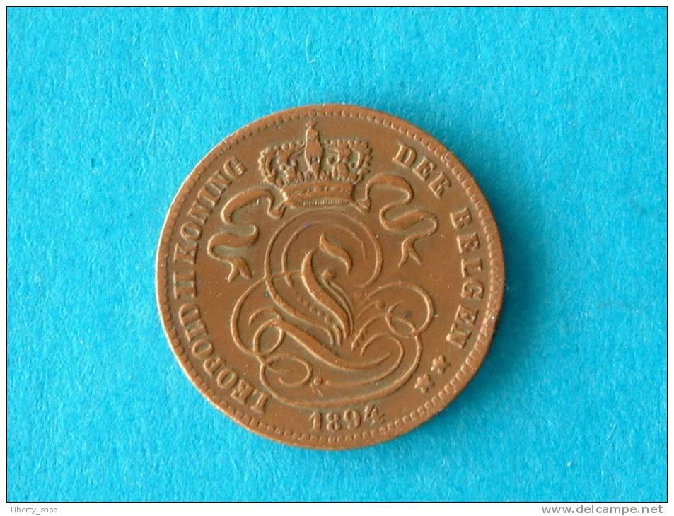 1894 VL - 1 CENTIEM - ZF ! - 1865-1909: Leopold II