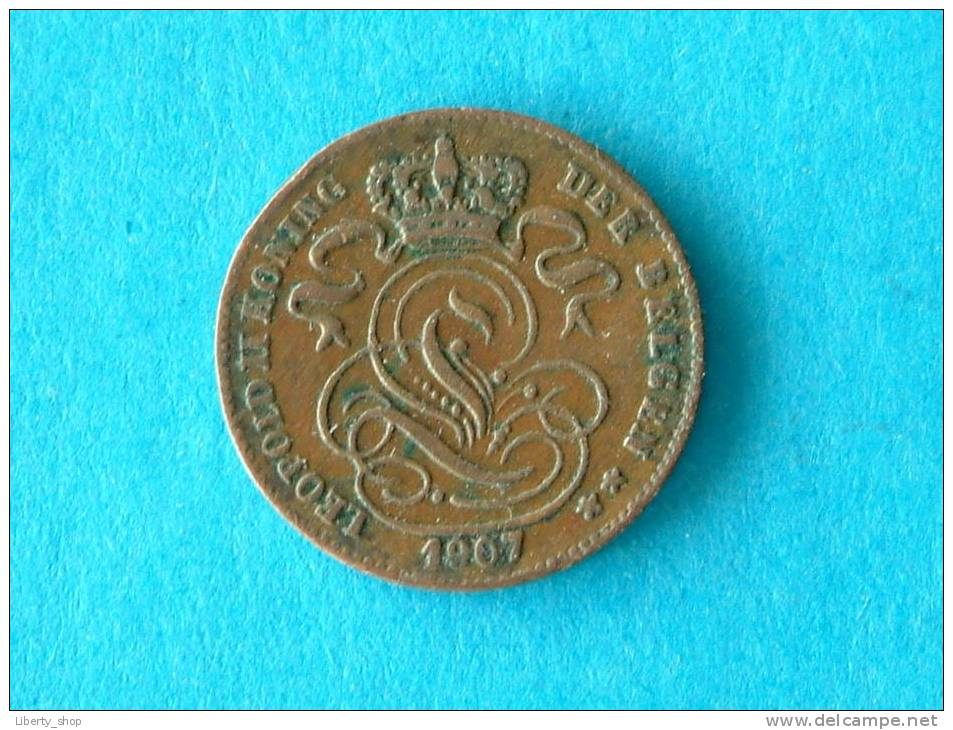 1907 VL - 1 CENTIEM - ZF ! - 1865-1909: Leopold II